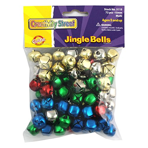 Chenille Kraft CK-3115 Jingle Bells, 1'' Height, 4.1'' Wide, 4.1'' Length, 15 mm, Multicolored (72 per Package) by Chenille Kraft