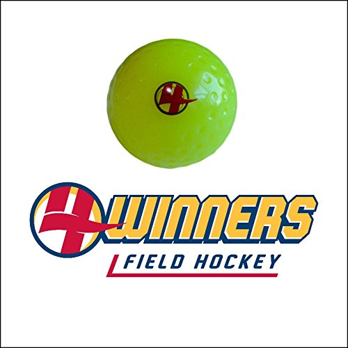 4Winners Field Hockey Dimple Ball x 12 (Yellow)