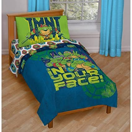Teenage Mutant Ninja Turtles In Your Face 4-Piece Toddler Bedding Set