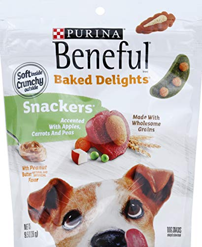 Beneful Baked Delights Snackers Dog Snacks With Peanut Butter Cheese Flavors