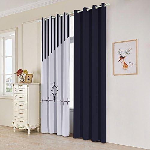 UniEco cortinas 2 pieza 209 cortinas 209 cortinas con ojales para dormitorio, 132x160cm: Amazon.es: Hogar