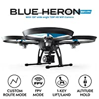 "Force1 Drones with Camera - ""U49W Blue Heron"" WiFi FPV Drone with Camera Live Video with Drone Camera + Camera Drone Bonus Battery from Force1"