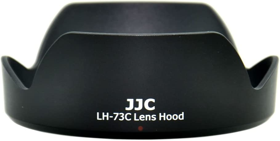 Black JJC LH-73C Lens Hood Shade for Canon EF-S 10-18mm f//4.5-5.6 is STM Lens Replaces EW-73C