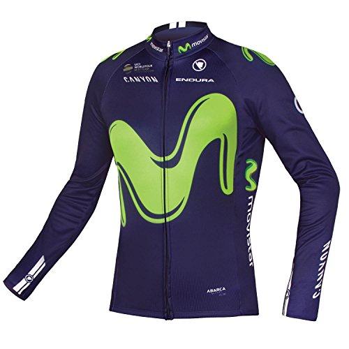 Endura Official Movistar Team 2017 Replica Long Sleeve Cycling Jersey, Medium