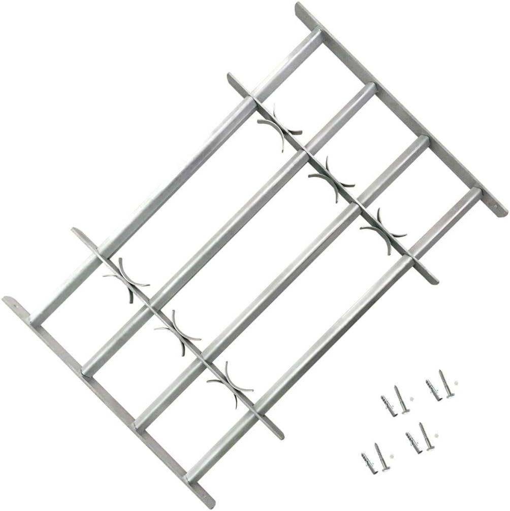 vidaXL Reja de Seguridad para Ventanas Ajustable con 4 Travesa/ños 1000-1500mm