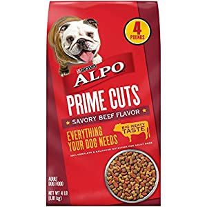 Purina ALPO 16823 ALPO PRIME CUTS Food for Dogs (4 Pack), 4lb