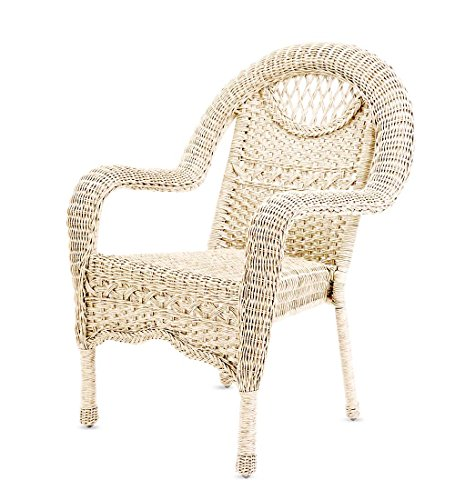(Prospect Hill Wicker Chair, Cloud White)