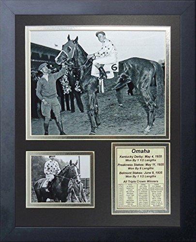 (11x14 FRAMED OMAHA 8X10 PHOTO 1935 TRIPLE CROWN WINNER WM. SAUNDERS 8x10 PHOTO)