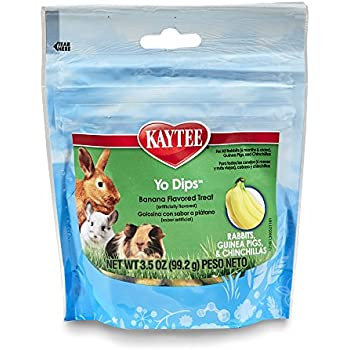 Kaytee Fiesta Banana Flavor Yogurt Dipped Treats for Rabbit, Guinea Pig and Chinchilla, 3.5-oz bag