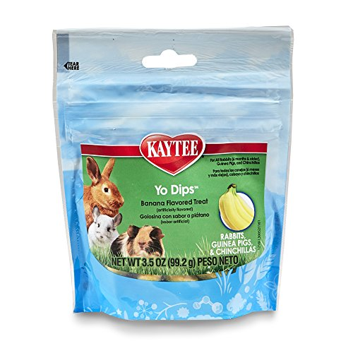 Kaytee Banana Flvor Yogurt Dipped Treat For Rabbit, Guinea Pig And Chinchilla, 3.5 ()