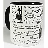 The Organic Chemistry Laboratory Mug with glazed black handle and inner from Half a Donkey by Half a Donkey