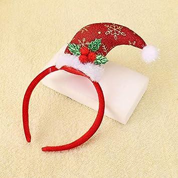 Amazon.com  FelixStore Christmas Hairband Creative New Santa Claus hat Hair  Band Hoop Hair Accessories for Girl s Headband ren Gift Tiara  Baby 03b3d93ce69
