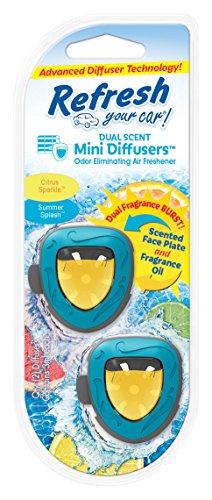 Refresh Your Car! E300877600 Dual Scent Mini Diffusers, Citrus Sparkle/Summer Splash Scent