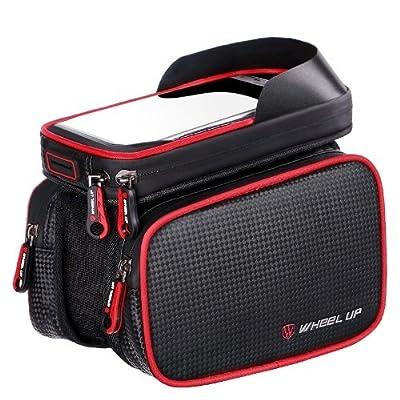 Wheel-UP Fahrrad Rahmentasche/Lenkertasche, Oberrohrtasche,Handy Tasche Wasserdicht Sensitive Touch-Screen