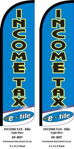 Income Tax 2 Two Swooper Feather Flag Kits Blue