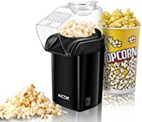 Aicok Machine à Pop Corn, Popcorn Popper à Air Chaud Sans hu