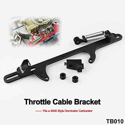 Ruien Billet Aluminum Throttle Cable Bracket For 4500 Style Series Carburetor Black (Body Billet Aluminum Throttle)
