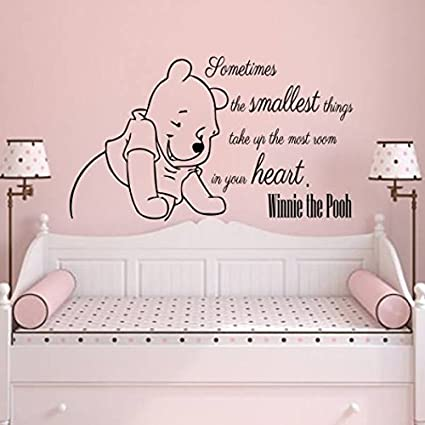 Wall Decals Quotes Vinyl Sticker Decal Quote Winnie the Pooh Sometimes the smallest things take Nursery  sc 1 st  Amazon.com & Wall Decals Quotes Vinyl Sticker Decal Quote Winnie the Pooh ...