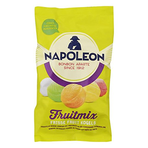 Napoleon Candy   Fruitmix Kogels/Fruitmix Balls | Sour Hard Candy | 7.05oz/200gr | Imported From Holland by Napoleon