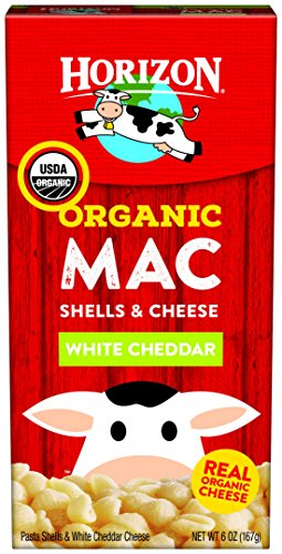 Horizon Organic Mac Cheese, Pasta Shells and White Cheddar, 6 Ounce (Pack of 12)