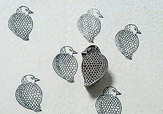 Blockwallah Gond Art Fat Bird Wooden Block Stamp