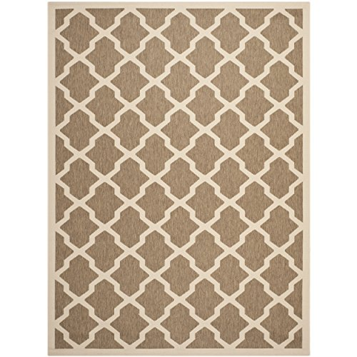 Bone 12x12 (Safavieh Courtyard Collection CY6903-242 Brown and Bone Indoor/ Outdoor Area Rug (9' x 12'))