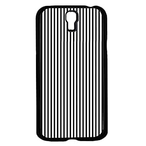 Black and White Thin Stripes Hard Snap on Phone Case (Galaxy s4 IV)