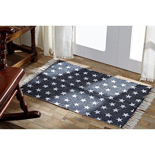 VHC Brands 16056 Multi Star Cotton Rug, 2'3