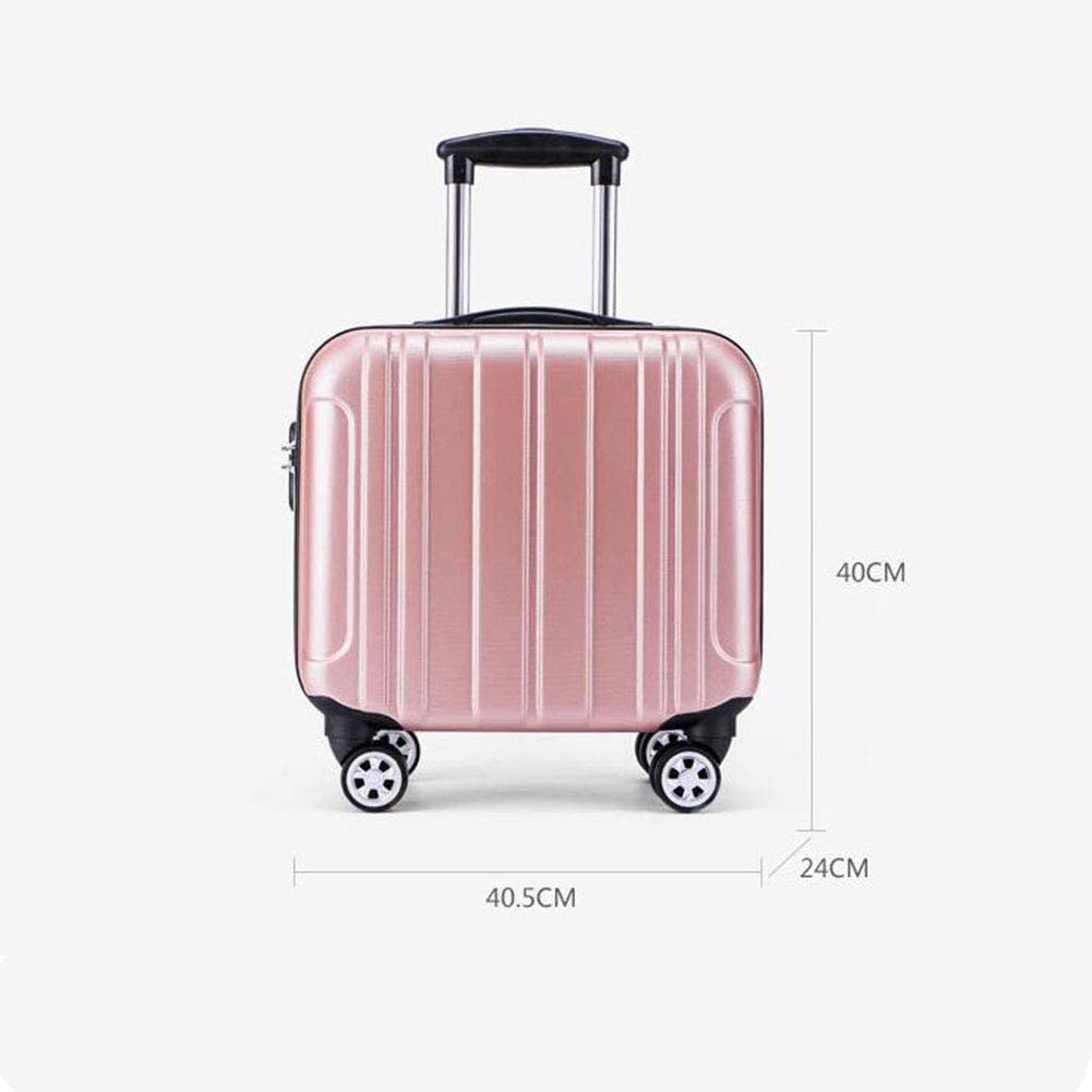 16 Inch Waterproof and Wear-Resistant Anti-Vibration Suitcase,Champagne Hongsheng Mini Trolley Case