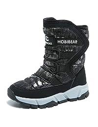 GUBARUN Boys Snow Boots Winter Waterproof Slip Resistant Cold Weather Shoes (Toddler/Little Kid/Big Kid)