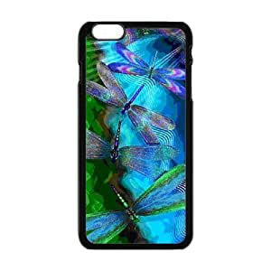 Brightly Painting Art Green Dragonfly iPhone6 Plus 5.5