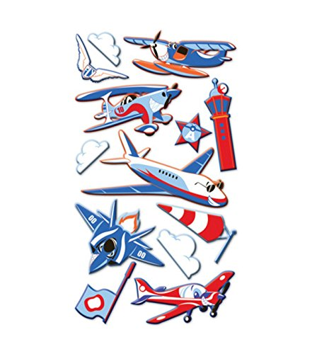 EK Success Puffy Dimensional Stickers, Funny Planes