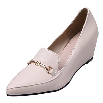RAZAMAZA Damen Pumps Schuhe mit Absatz Slip Ons