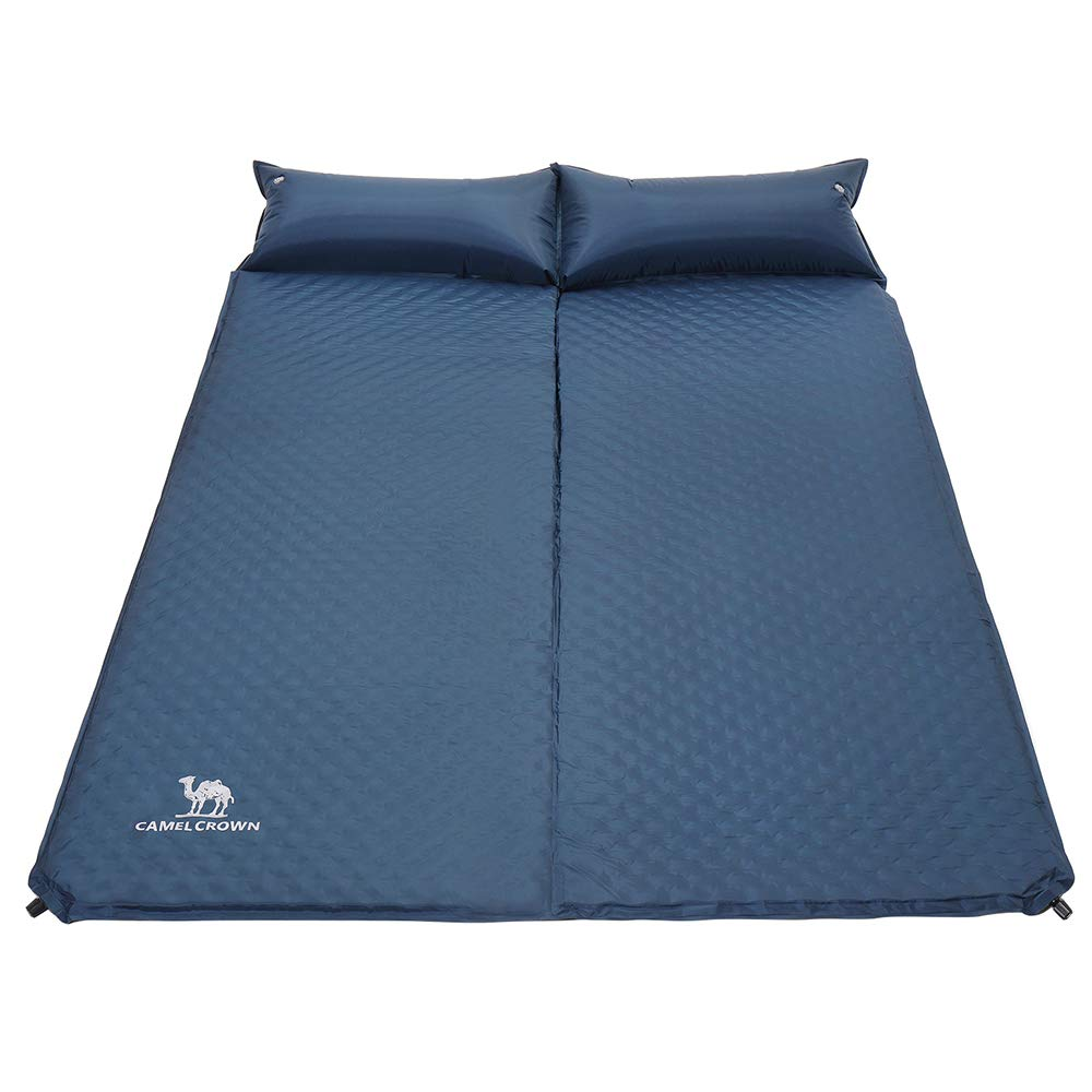 CAMEL CROWN Self Inflating Double Sleeping Pad with Pillows Sleep Mat for 2 Person Outdoor Camping Hiking Backpacking by CAMEL CROWN