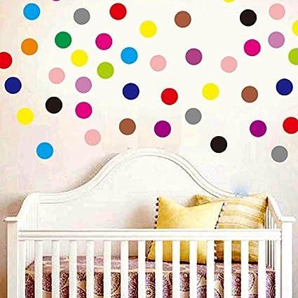 Amazon.com: Set of 102 Polka Dot Vinyl Circles Dots Wall art Decor ...