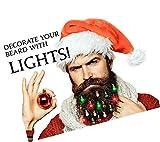 Christmas Facial Hair Baubles Beardaments Lights- Light Up Beard Ornaments, 16pc New