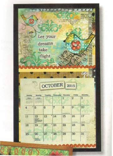 Lang Perfect Timing - Lang Contemporary Black Calendar Frame, 15 x 25.25 Inches (Wooden Calendar Holder)
