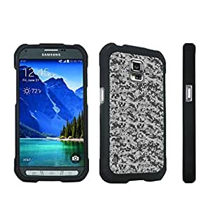 DuroCase ? Samsung Galaxy S5 Active SM-G870A Stylish Hard Case Black - (Digital ACU Camo Grey)