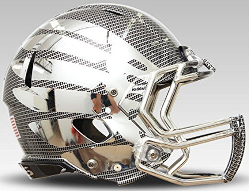 Oregon Ducks Speed Football Helmet - Liquid HydroChrome - NCAA College Football Licensed - Oregon Ducks Collectibles