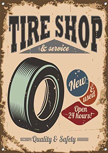 Cartel de metal para neumáticos, 20 x 30 cm: Amazon.es: Hogar