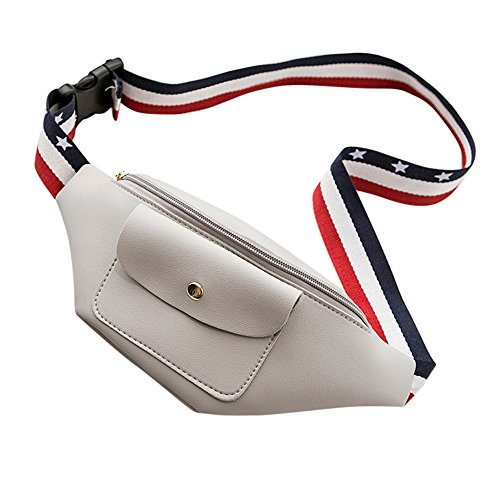 Color Bag Pack Solid Document Waist Zipper Bag Women Waist Pocket Color Phone Solid Fashion Phone Zycshang Chest Bag Waist Flag Ribbon Zipper Bag Gray Vertical Bag qnxafYSgw