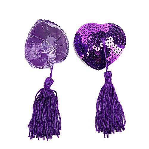 Covers Per Petalo Purple Taglia Pink Leisial Adesivo 1 Spalline Unica Paillette Donna nbsp;paio Nappa Donne Silicone Riutilizzabile Senza Pasties Pasty Con Lingerie Seno Copricapezzoli Uomini Nipple qYwvfq