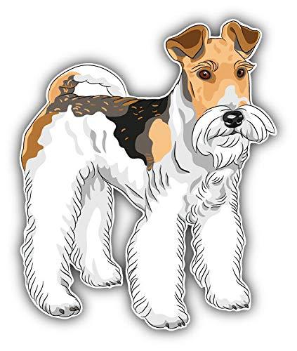 - JJH Inc Magnet Wire Fox Terrier Dog Flexible Vinyl Magnet Waterproof Car Magnetic Bumper Sticker 5