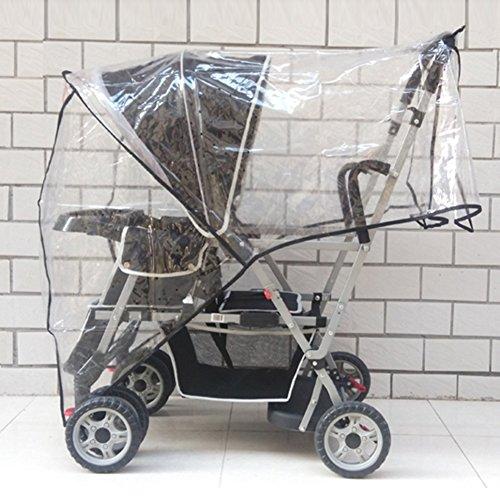 Aligle Weather Shield Double Popular for Swivel Wheel Stroller Universal Size Baby Rain Cover/Wind Shield Deal (Black) by Aligle (Image #1)