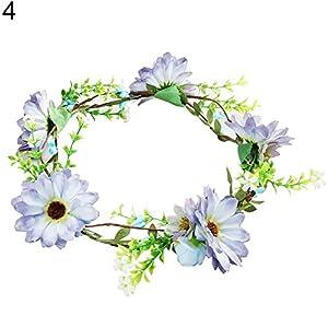 YHCWJZP Pretty Artificial Flower Garland Bridal Wedding Beach Party Headband Hair Band - 4# 36