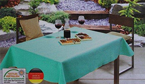 Gartentischdecke Outdoor-Tischdecke vers. Farben & Formen (130x160 cm, Türkis)