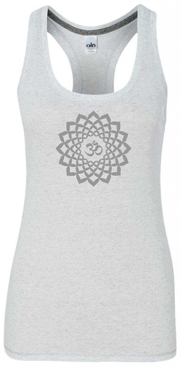 Yoga Clothing For You Ladies Sahasrara Chakra Tri-blend Racerback Tank Top
