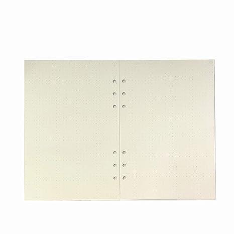 Amazon.com: Harphia A5 A6 hojas sueltas cuaderno de recambio ...