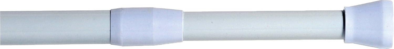 "Gray Evideco Bathtub Shower Curtain Rod Adjustable Tension Rod 53/"" to 98/""L"