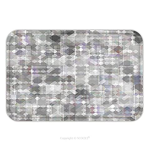 Flannel Microfiber Non-slip Rubber Backing Soft Absorbent Doormat Mat Rug Carpet Seamless Bright Abstract Mosaic Grey Background Pattern With Gloss 365870726 for - Mosaic Outdoor Rug